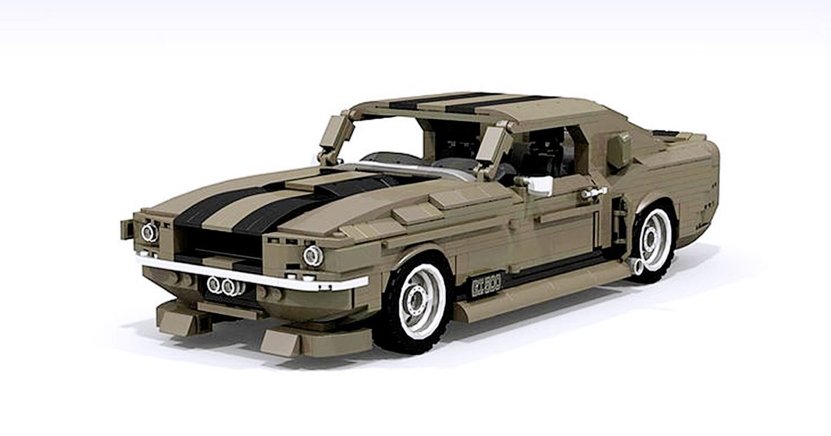 lego shelby mustang gt500 als bausatz mann tv. Black Bedroom Furniture Sets. Home Design Ideas