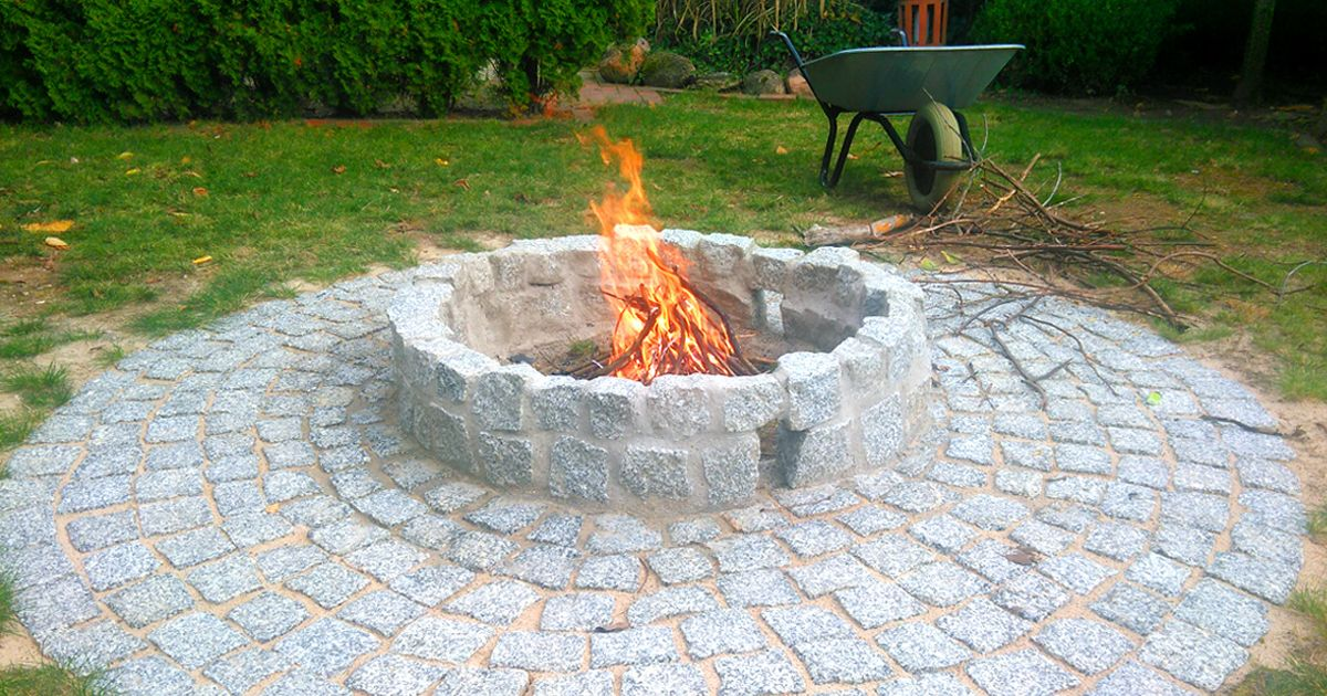 Bau Anleitung Fur Laien So Baut Ihr Gunstig Eine Feuerstelle Im Garten Mann Tv